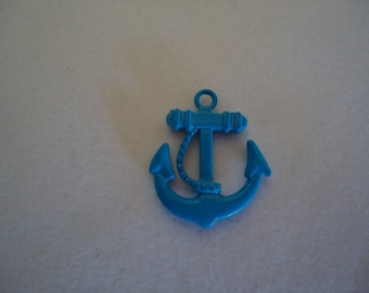 Pendant small anchor Navy Blue metal tart