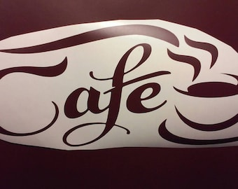 Cafe Wall Decal/Coffee Shop Decals/ Coffee / Coffee Decals/Coffee Shop Wall Decals