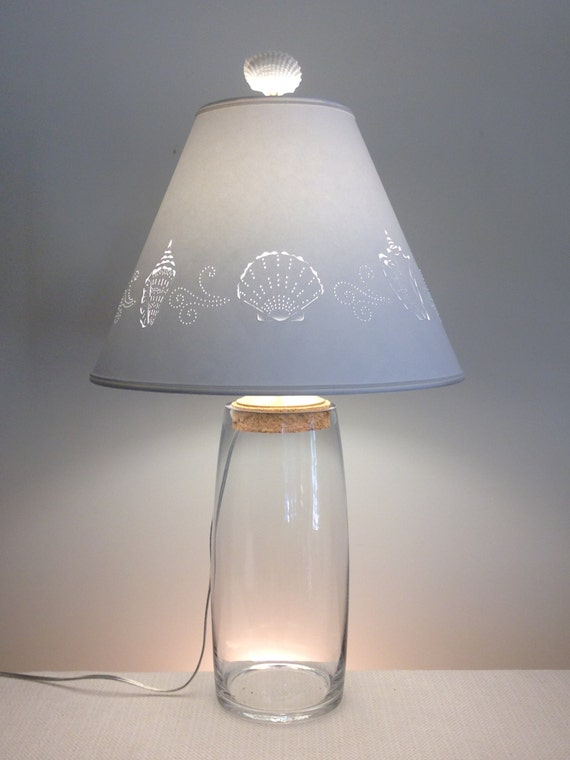 Clear Glass Fillable Lamp Fillable Lamp Seashell Fillable