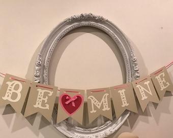 Be Mine Valentine's Day Banner
