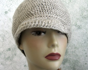 Crochet Hat Womens Pattern Brimmed Light Weight Summer Cabbie Style Hat Easy To Make Instant Download Multi Sized Pre Teen To Adult