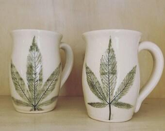 Wholesale Bulk Cannabis Stoneware Mugs Twelve per Order