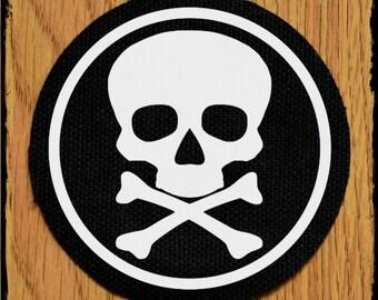 Skull and crossbones punk patch - skull punk patch - skull patch 70mm - skull patches - punk patches