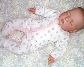 "Sleeping 18"" Reborn Baby Girl Doll Child Friendly + Magnetic Dummy"