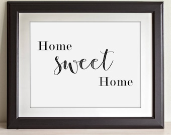 Home Sweet Home - 11x14 Unframed Typography Art Print - Great Housewarming Gift