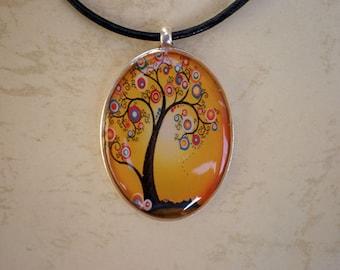 Tree of life pendant - Tree resin pendant - Art pendant - Art jewelry - Resin pendant - Digital print