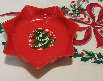 Waechtersbach Germany Christmas tree star bowl/plate free shipping U.S only