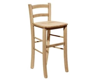 Chair solid wood stool rough to be painted ground clearance to seat 67 cm