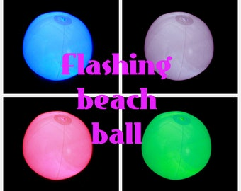 CUSTOMIZE IT - Flashing LED lighted beach ball for decorations and crafts.  Water resistant, easy to use, fun to play with.