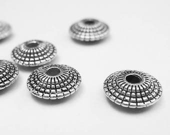 set of 20 beads 8 mm Tibetan silver ethnic style