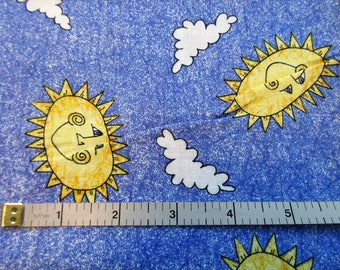 Here Comes The Sun By Patrick Lose Quilt/Craft Fabric - Vintage - Remnant - 26""