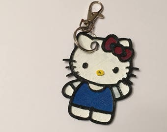 Hello Kitty 3d print keychain