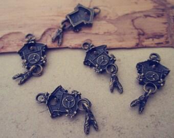 20pcs Antique bronze house Charms pendant 12mmx25mm