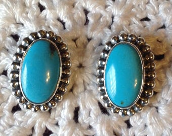 Campitoes Turquoise Post Earrings