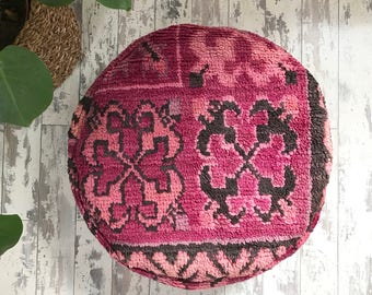 Round Moroccan Pouf