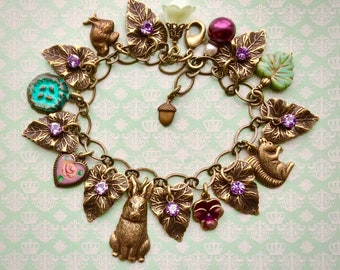 Rabbit Charm Bracelet - Rabbit Bracelet - Rabbit Jewelry - Spring Jewelry - Woodland Jewelry - Bunny Jewelry - Easter Jewelry - Easter Bunny