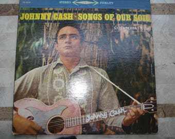 Johnny Cash Songs of Our Soil Record Album