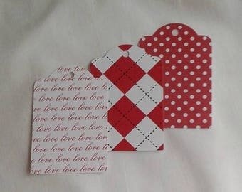 Valentine Gift Tag Set of 9