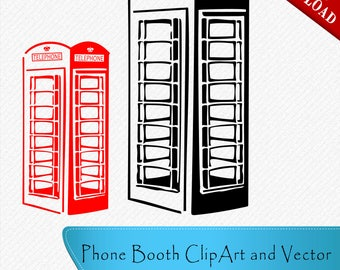 Telephone Booth SVG Cricut Silhouette Phone Booth SVG Telephone Booth Vector Cut Vector digital download, svg, dxf, eps, png