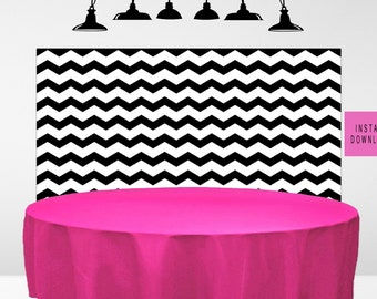 Black chevron backdrop, dessert table backdrop, Shower Backdrop, digital backdrop download, Adult Birthday Party Decoration, back drop decor