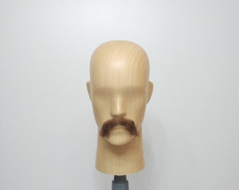 Realistic Fake Moustache, Human Hair, full hand made