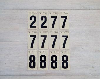 vintage number stickers