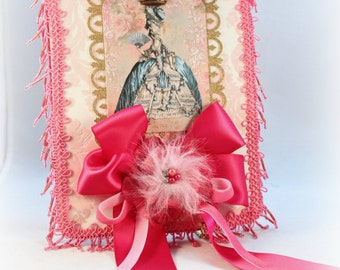 Marie Antoinette Wall Hanging Mixed Media Collage Wall Hanging Party Decoration French Inspired Home Decor Gift Tag Gift Topper