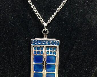 Tardis Charm Necklace