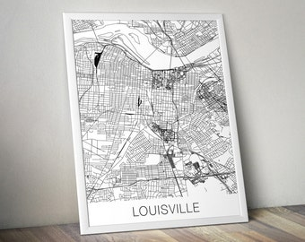 Louisville Map Print