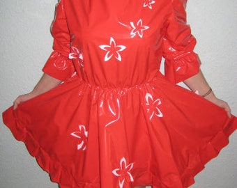 PVC Short Red SISSY Dress
