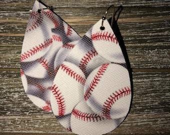 Baseball Leather Earrings