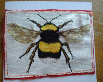 Large Bumble Bee greetings card