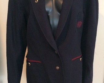 Steinbock Tyrol Austria Jacket Blazer Horn Buttons Crest Tyrolian Trachten  Coat