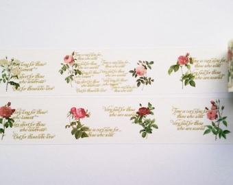 Design Washi tape font floral vintage