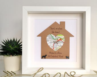 New home gift, housewarming gift, new house gift, first home gift, map art, wall art, personalised frame, personalised housewarming gift,
