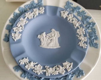 Wedgwood Jasperware Ashtray in Original Box, Plus Two Ceramic Wedgwood Ashtrays, Three (3) Ashtrays Total