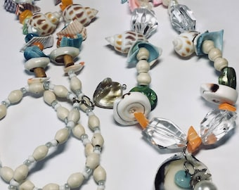 Beach shell long necklace
