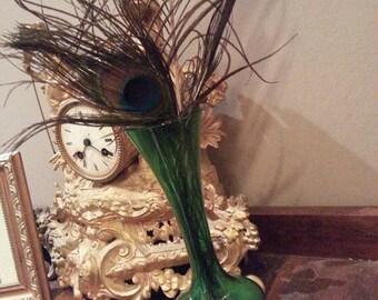 Vintage green vase flower vase table decor