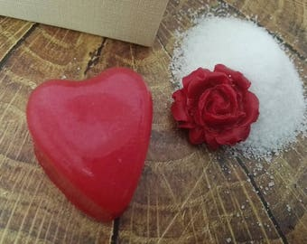 Sugar Scrub Heart Soap Valentine's Day Gift Set