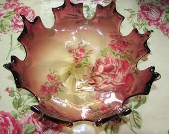 Murano glass fruit bowl.