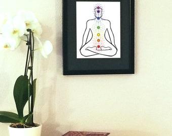Chakra Balance | Digital Print | DIY | Wall Art | Wall Hanging