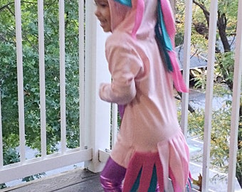 Little pink unicorn costume • baby gurl and toddler Halloween costume top • Made to order