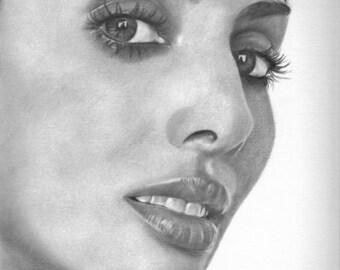 Natalie Imbruglia Original Drawing
