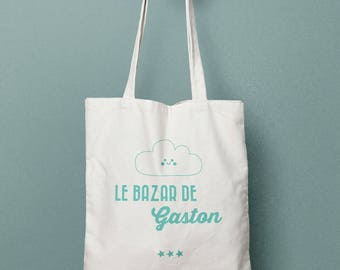 Personalized tote bag, Canvas Tote Bag, clouds bag, Custom Tote Bag, Kids Bag, Tote Bag