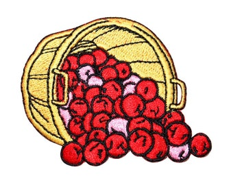 ID 9119 Bushel of Apples Patch Harvest Farm Picking Embroidered Iron On Applique