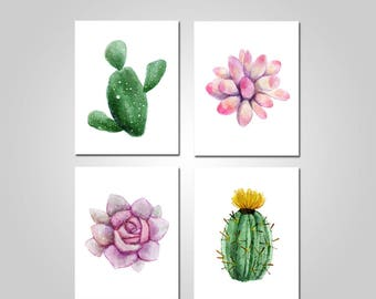 Cactus Wall Art   Cactus Prints   Cactus Canvas   Cactus Printable Wall Art    Succulents Wall Art   Succulent Prints   Botanical Wall Art