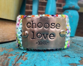 Custom Hand Stamped Cuff Bracelet, Personalized Gift for Her, Custom Made Boho Style Jewelry Cuff, Handmade Personalized Jewelry Bracelet