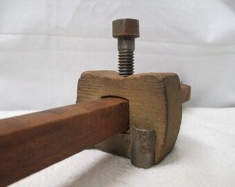 2nd vtg carpenter tool, primitive vtg tool, man cave decor, old wooden tool, farm house decor woodworker tool, repurpose upscale garage tool