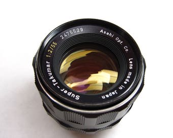 Pentax Super Takumar 2475529, M42 screw mount 55mm, f/2