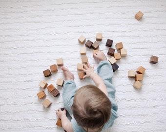 48 Organic Wooden Blocks - Building Block Set - Bannor Toys